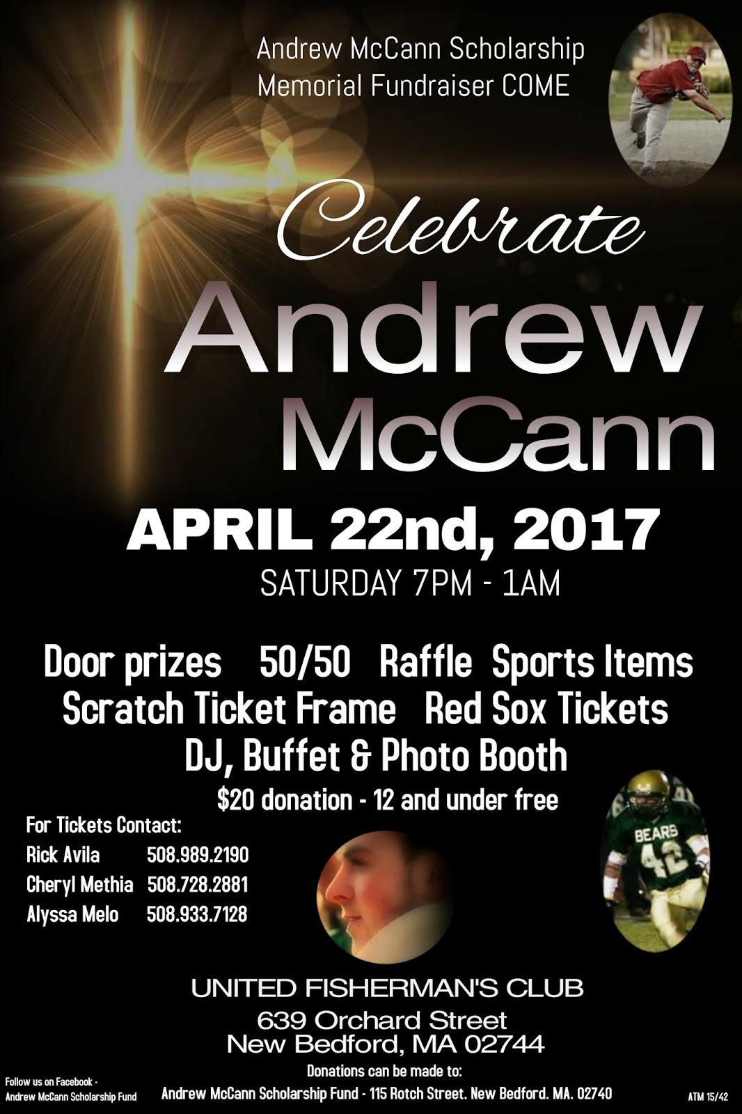 Andrew Mccann Scholarship Memorial Fundraiser New Bedford